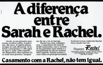 A diferença entre Sarah e...