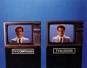 TV alugada x TV comprada